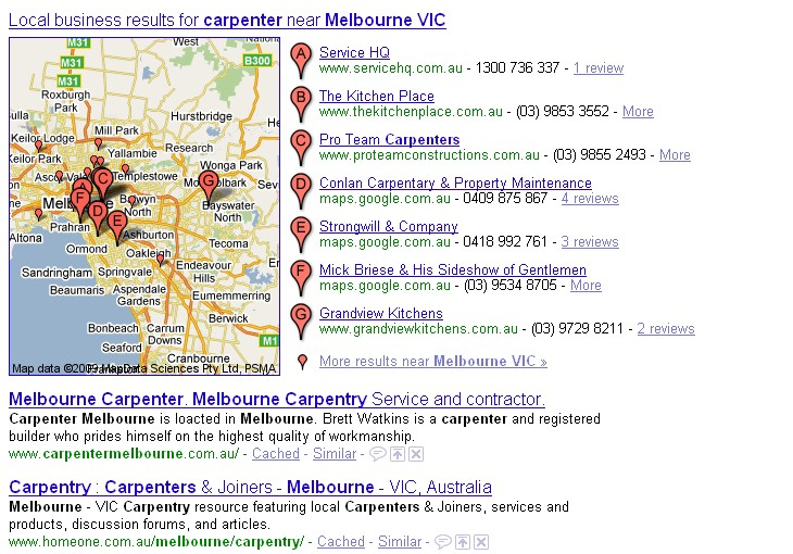 carpenter melbourne local listings