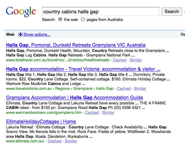 Localized Results In Google