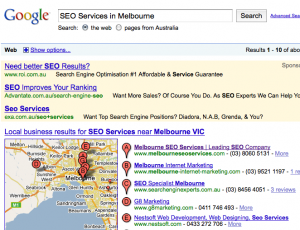 Localized Search Engine Results for Melbourne SEO Services