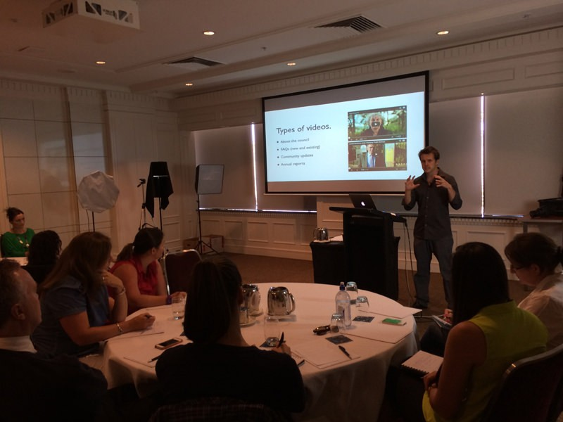 Dave presents at a private training for Government Communications Australia