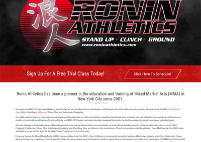 Ronin Athletics by Melbourne SEO Services