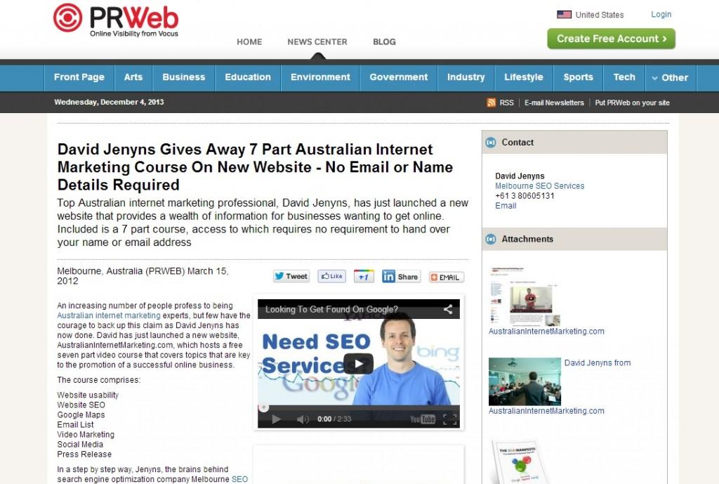 Australian Internet Marketing course