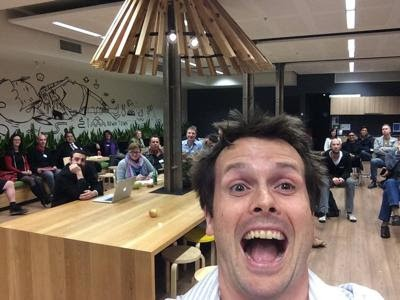 Here's a photo when I recently spoke at Envato for their SEO meetup.