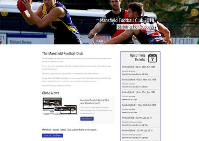 Mansfield Football by Melbourne SEO Services