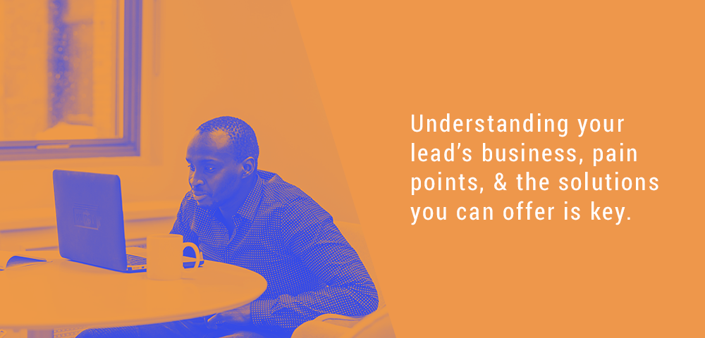 understand your lead's business
