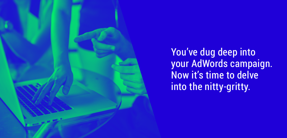 dig deep into your AdWords campaign