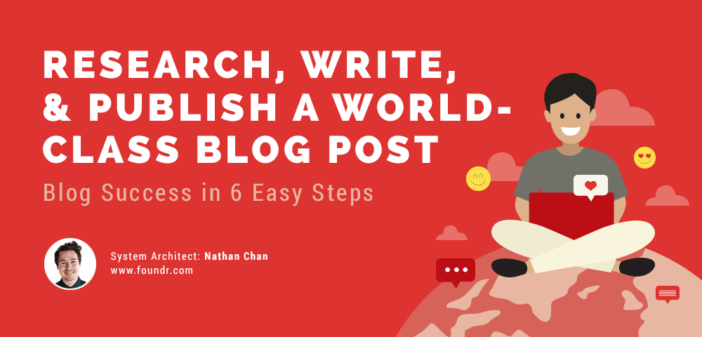 research write and publish a world-class blog post