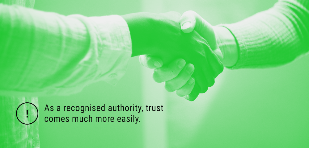 Trust comes easily to a recognised authority