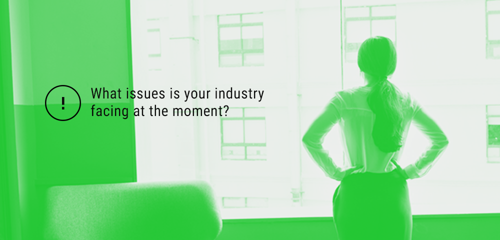 identify the issues your industry is facing at the moment