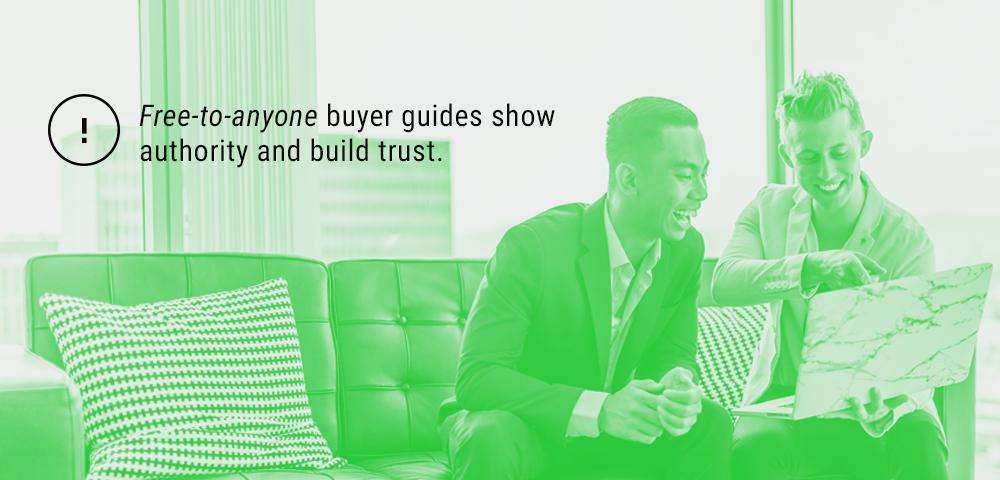 show authority and build trust through free buyer guides